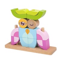 Classic World Wooden Stacking Blocks Owl, 24dlg.
