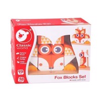 Classic World Wooden Stacking Blocks Fox, 24dlg.