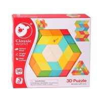 Classic World Wooden 3D Mosaic Puzzle, 36st.