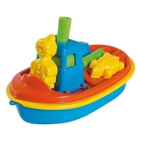 Boat with sand toys
