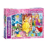 Clementoni Brilliant Puzzle Disney Princess, 104 psc