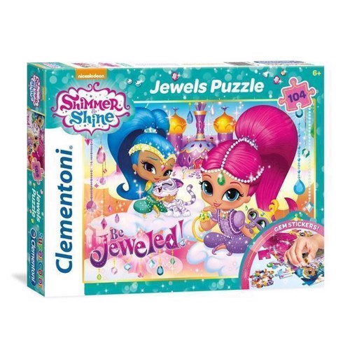 Clementoni Jewels Puzzle Shimmer & Shine, 104 psc