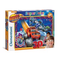 Clementoni 3D Puzzle Blaze and the Monster Wheels, 104st.