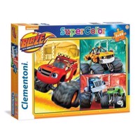 Clementoni Puzzle Blaze and the Monster wheels, 3x48st.