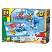 SES Mosaic board with Super Wings cards