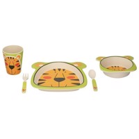 Children's tableware Bamboo, 5dlg. - Tiger