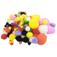 Colored Pom Poms, 100st.