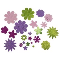 Craft Stickers Flowers, 200pcs.