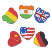 Eraser Flags, 6pcs.