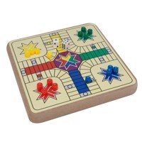 Parlor game Wood 2-in-1, Ludo and Chess