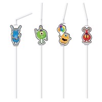Straws Monster Party, 8pcs.