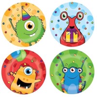 Plates Monster Party, 8pcs.