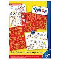 Twizz Sjablonenset Horse Princess