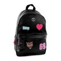 Milky Kiss Patch Perfect Backpack - Black