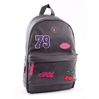 Milky Kiss Patch Perfect Backpack - Gray