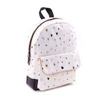 Kidzroom Black & Gold Backpack Hearts