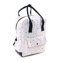 Kidzroom Black & Gold Backpack Dots