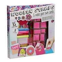 Wooden Stamp Set with Cards