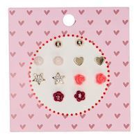 Kids Earrings, 6 pairs