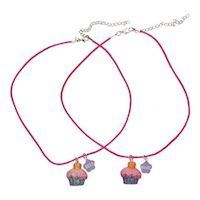 BFF Necklace with Cupcakes