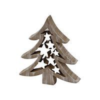 Wooden Christmas Tree with Stars