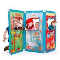 Pop-it-Up Play tent Zig Zag Theater with Hand puppets