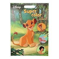 Disney Super Color Coloring Book with Stickers
