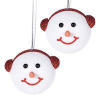 Christmas pendant Snowball, 2pcs.
