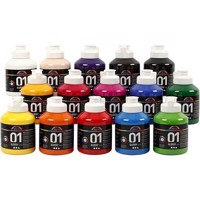 A-Color - Acrylic Paint - Assorted Colors - 01 - Glossy - 15x500ml