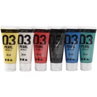 A-Color Acrylic Paint - Assorted colours - 03 - Metallic - 6x20ml