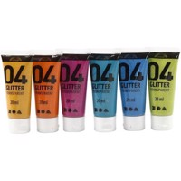 A-Color Acrylic Paint - Assorted colours - 04 - Glitter - 6x20ml