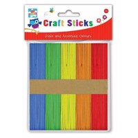 Arts and Crafts Sticks Colored, 100pcs