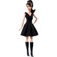 Barbie  - Fashion Model Collection Doll - Classic Black Dress  (DWF53)