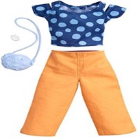 Barbie - Complete Fashion Look - Blue Polka Dot and Patch Pant