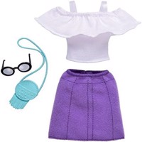 Barbie - Complete Fashion Look - Ruffle Top and Purple Skirt