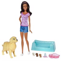 Barbie - Newborn Pups - Pet and Doll (FDD44)