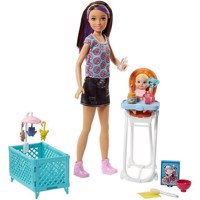 Barbie - Skipper Babysitters Doll and Playset - Feeding Chair(FHY98)