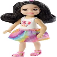 Barbie  Chelsea and Friends Doll  Black haired Girl w White Top FXG77