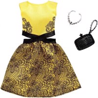 Barbie  Complete Looks Fashion  Yellow and Black Dress FXJ08