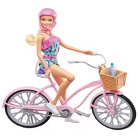 Barbie doll and bike ftv96