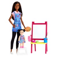 Barbie Drawing teacher Dolls and Playset