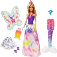 Barbie  Dreamtopia Doll with 3 costumes FJD08