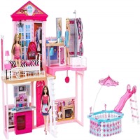Barbie house w furniture accessories fck15