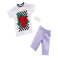 Barbie ken clothes t-shirt shorts and glasses ghx47