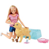 Barbie   Newborn Pups Pet and Doll FDD43