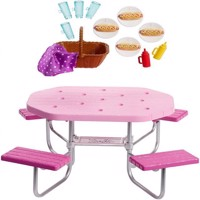 Barbie  Outdoor Furniture  Picnic Table FXG40
