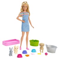 Barbie Playset with Dog, Pussy and Bunny