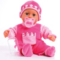 Bayer doll first words baby pink 38cm