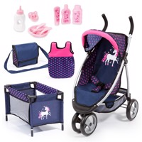 Bayer - Dolls Jogger Mega Set - Navy (39954AC)