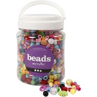 Beads - Box of 700 ml. - Acryllic - Approx. 1175 pc.